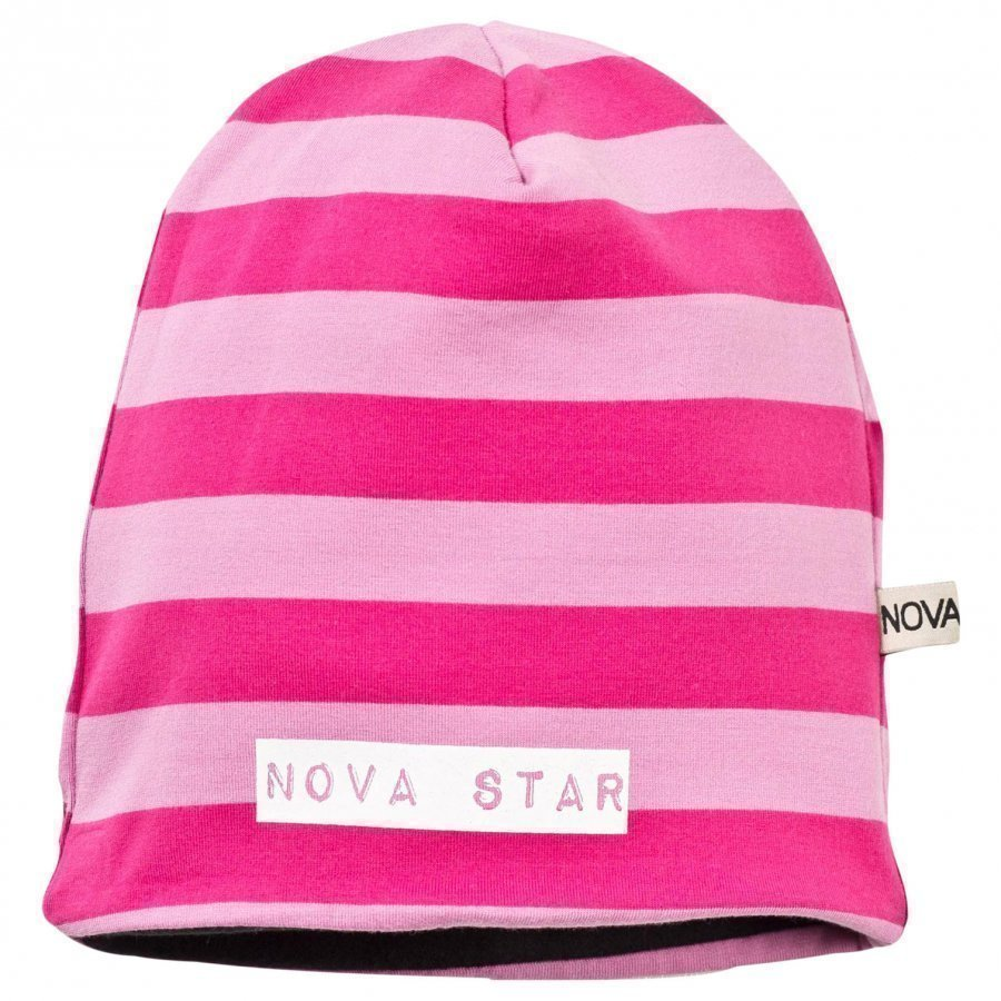 Nova Star Fleece Lined Beanie Striped Pink Pipo