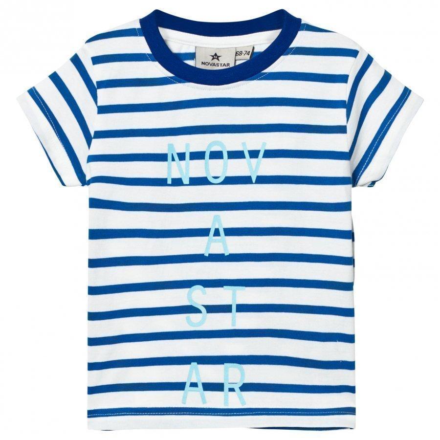 Nova Star Line Tee Off White/Blue T-Paita