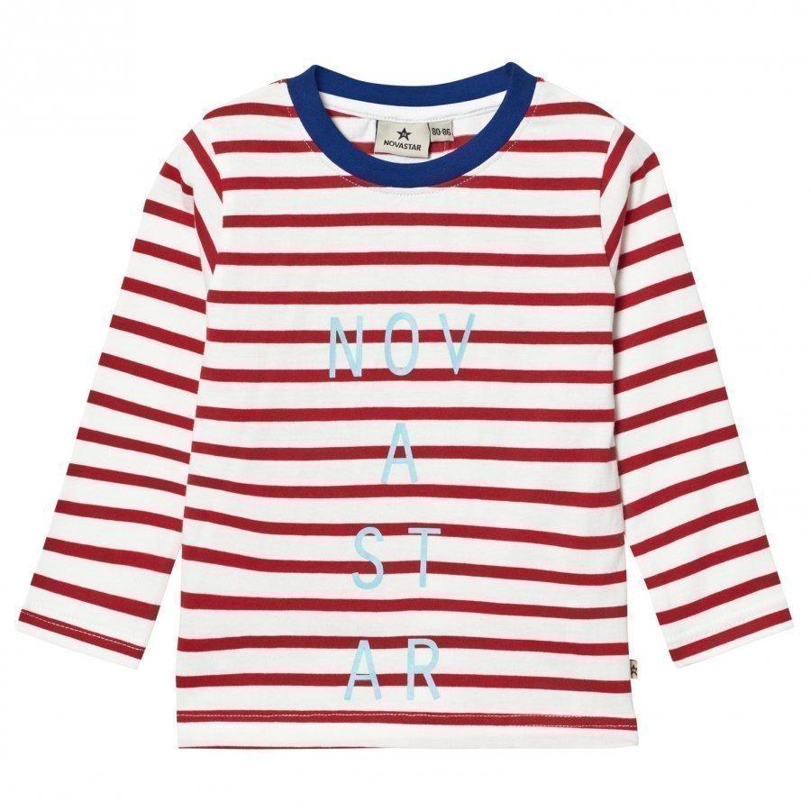Nova Star Line Tee Off White/Red T-Paita