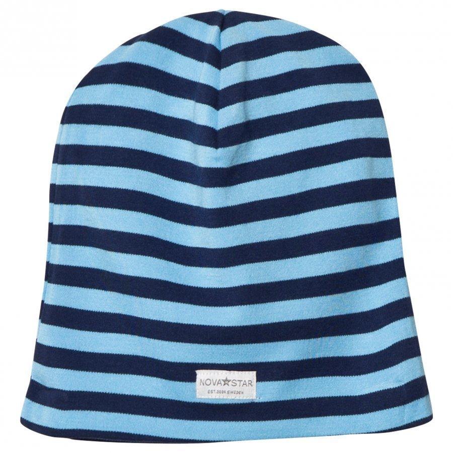 Nova Star Nb Blue Striped Beanie Pipo