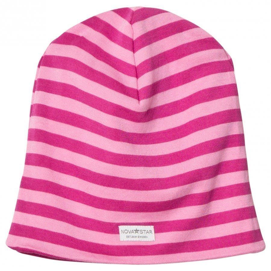 Nova Star Nb Pink Striped Beanie Pipo