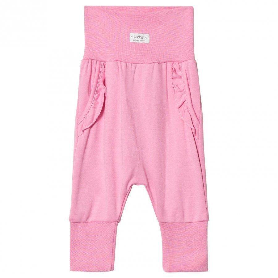 Nova Star Pink Flounce Baby Trousers Housut