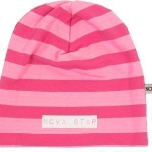 Nova Star Pipo W-Beanie Striped Pink