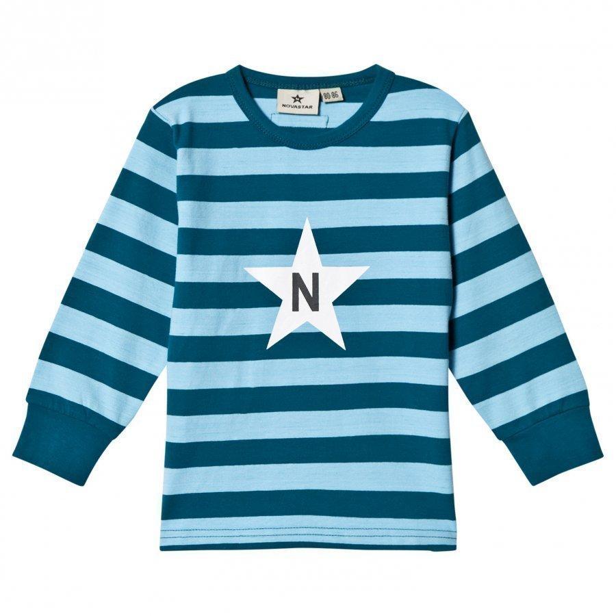 Nova Star Stripe T Jade Green Pitkähihainen T-Paita