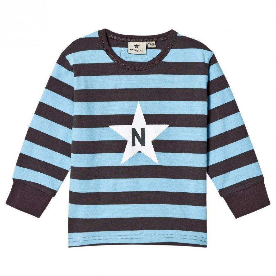 Nova Star Stripe T Light Blue Pitkähihainen T-Paita