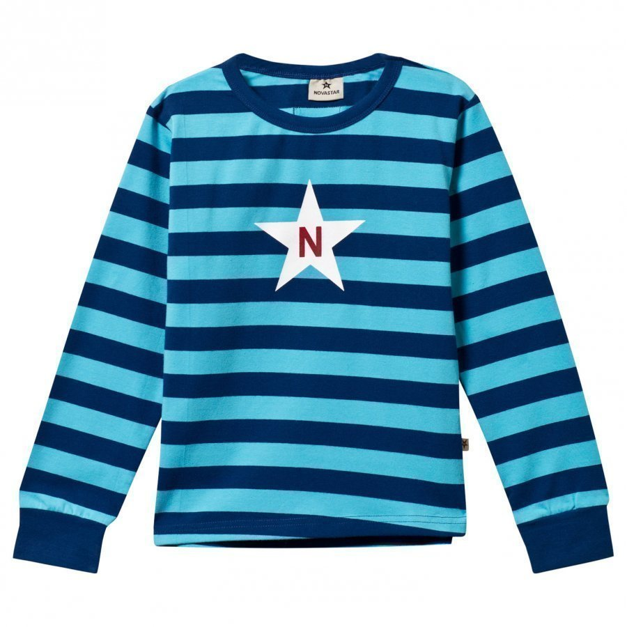 Nova Star Striped Tee Marine Blue Pitkähihainen T-Paita