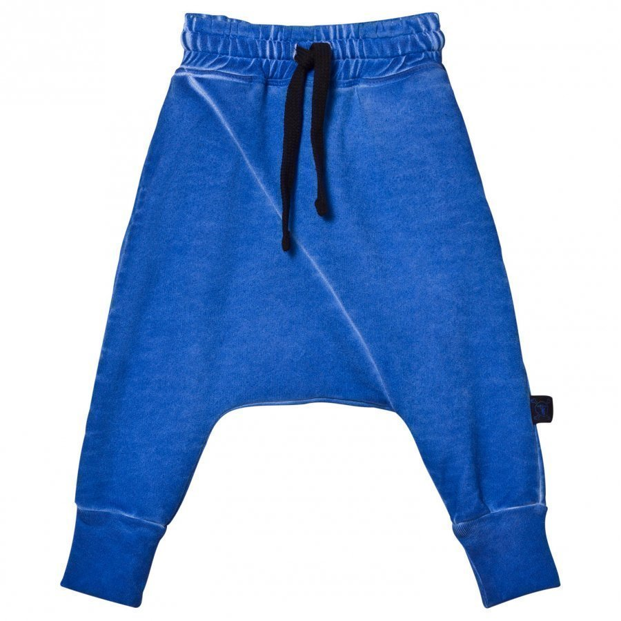 Nununu Diagonal Baggy Pants Dirty Blue Harem Housut