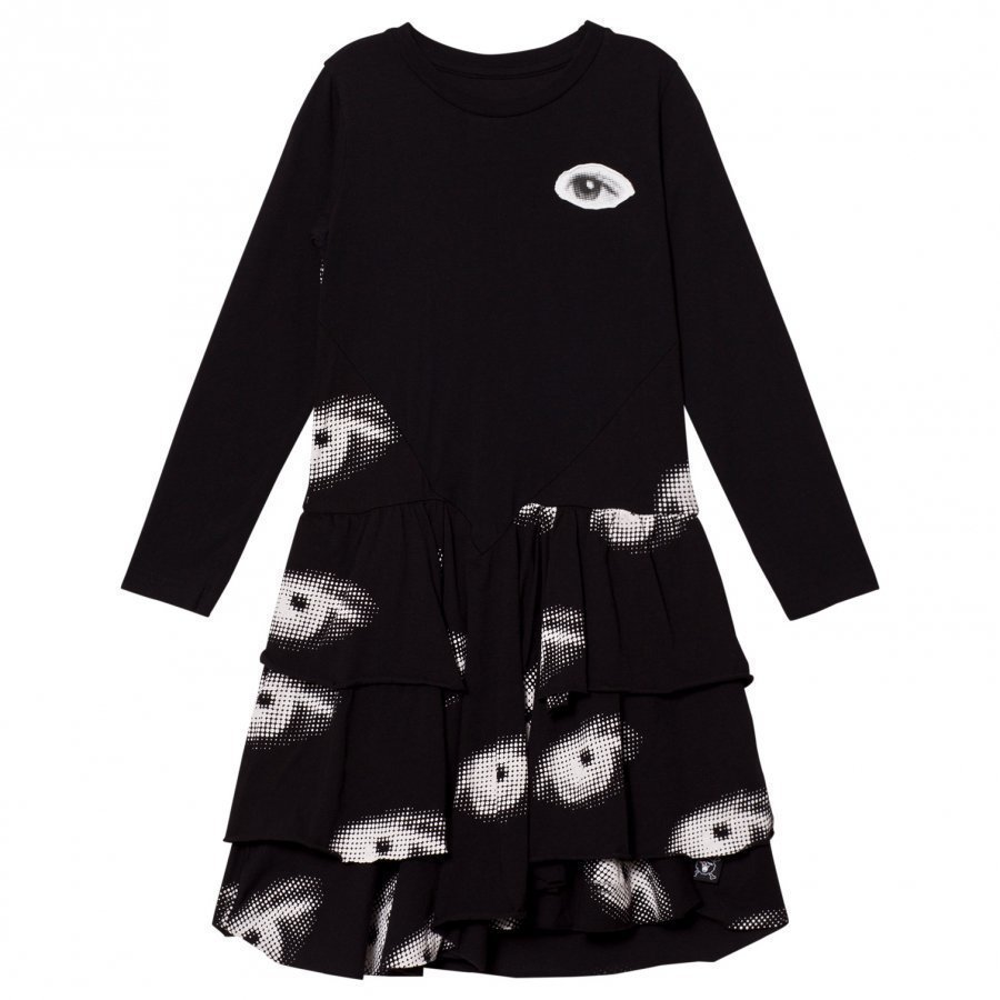 Nununu Eye Layered Dress Black Mekko