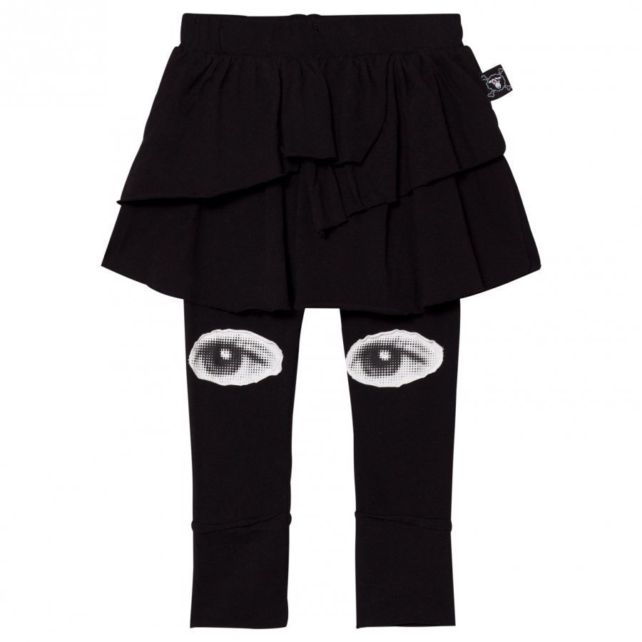 Nununu Eye Leggings Skirt Black Legginsit