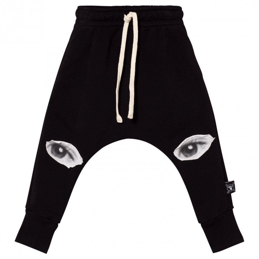 Nununu Eye Patch Baggy Pants Black Verryttelyhousut