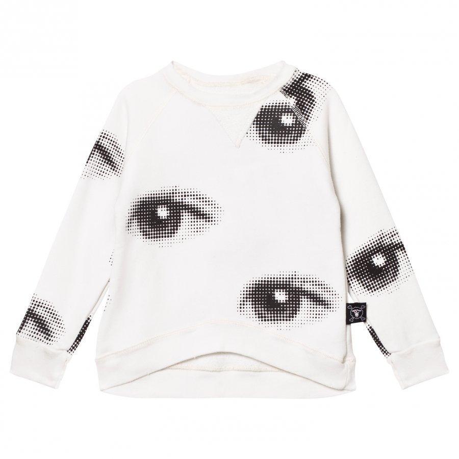 Nununu Eye Sweatshirt White Oloasun Paita