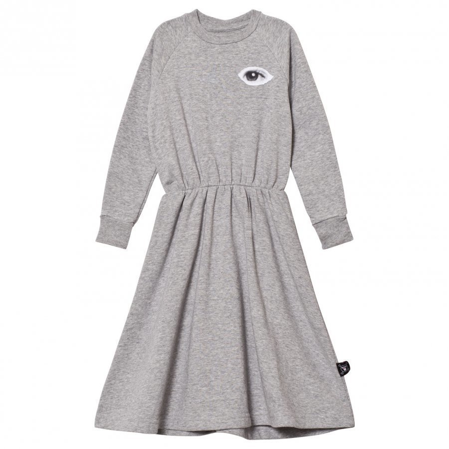 Nununu French Terry Maxi Dress Heather Grey Mekko