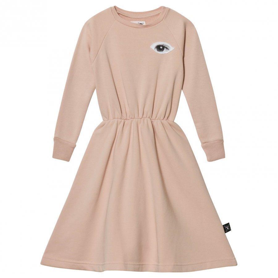Nununu French Terry Maxi Dress Powder Pink Mekko