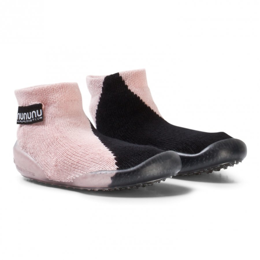 Nununu Half And Half Slippers Black/Powder Pink Sisätossut