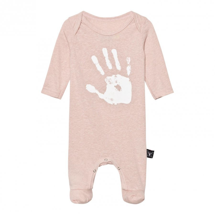 Nununu Hand Print Footed Baby Body Powder Pink Body