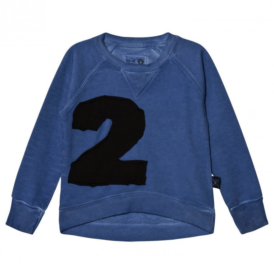 Nununu Puffy Numbered Sweatshirt Dirty Blue Oloasun Paita