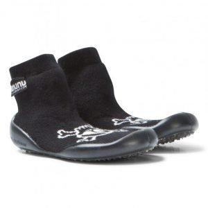 Nununu Skull Collegien Slippers Black Vauvan Kengät