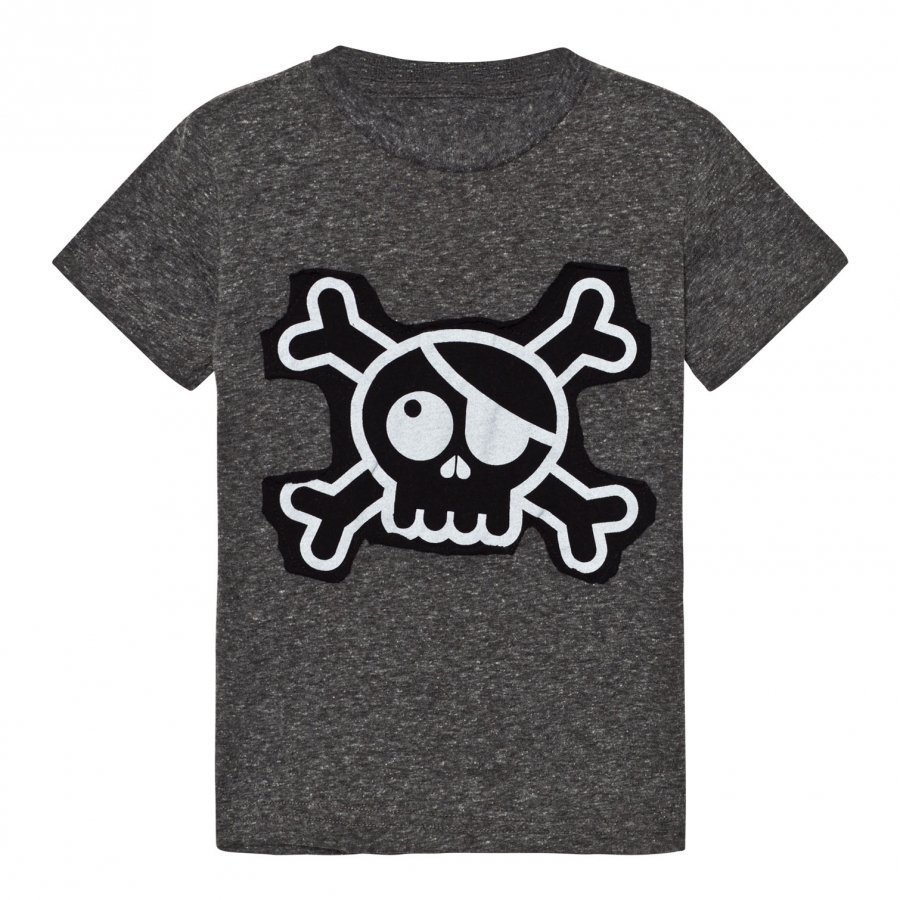 Nununu Skull Patch T-Shirt Charcoal T-Paita
