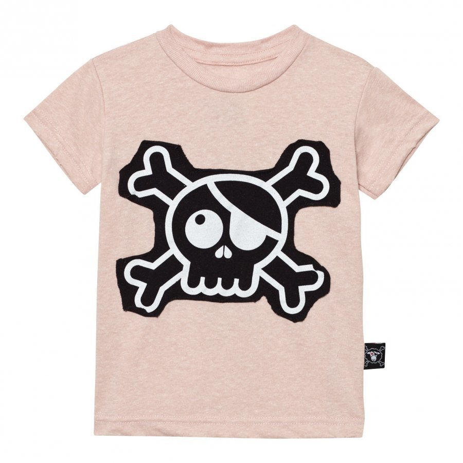 Nununu Skull Patch T-Shirt Powder Pink T-Paita