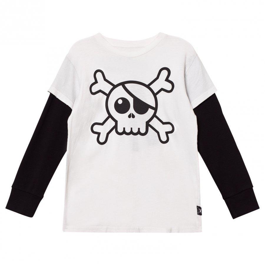 Nununu Skull T-Shirt White Pitkähihainen T-Paita