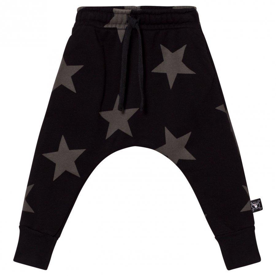 Nununu Star Baggy Pants Black Verryttelyhousut