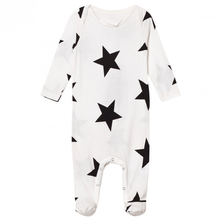 Nununu Star Footed Baby Body White Potkupuku