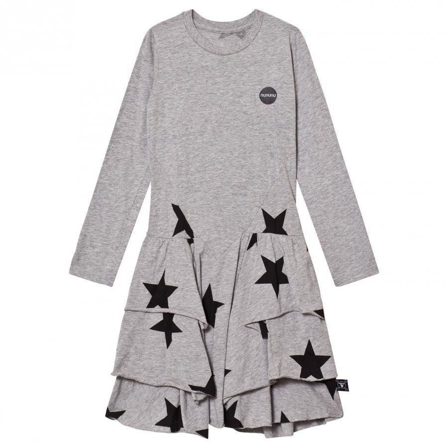 Nununu Star Layered Dress Heather Grey Mekko