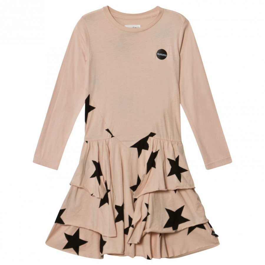 Nununu Star Layered Dress Powder Pink Mekko