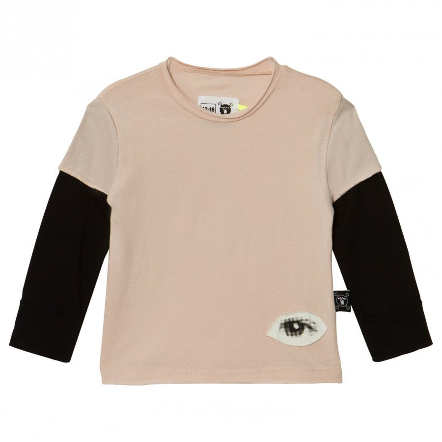 Nununu Tiny Eye Patch T-Shirt Powder Pink Pitkähihainen T-Paita