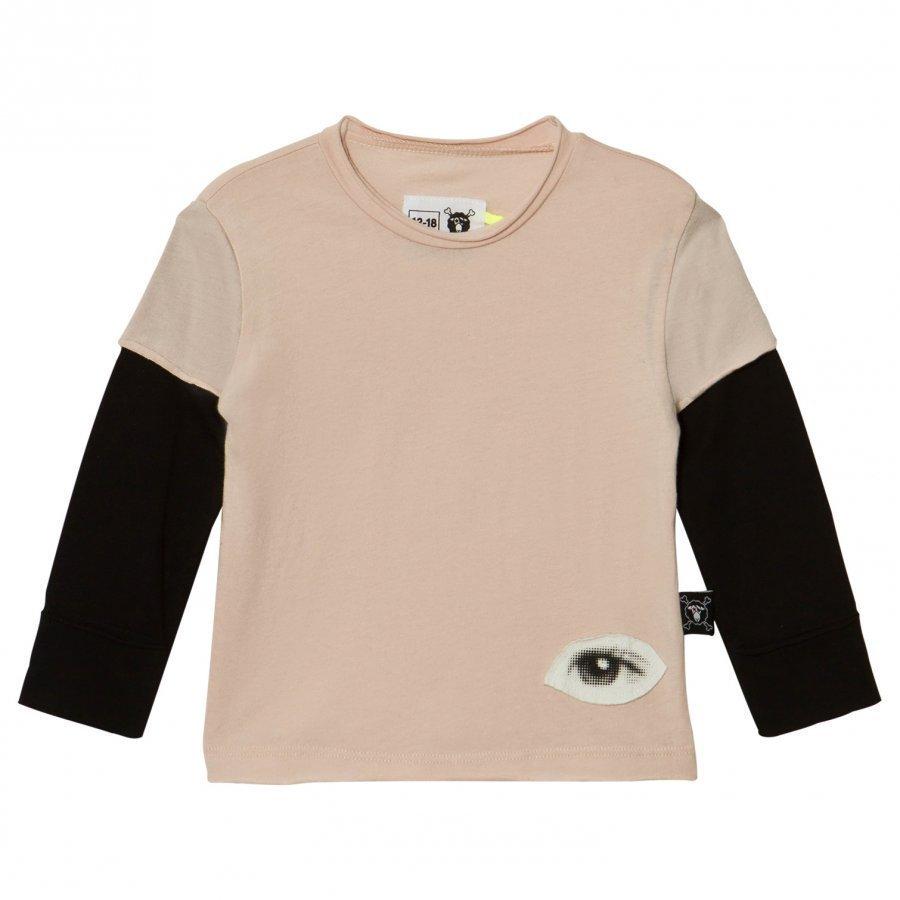 Nununu Tiny Eye Patch T-Shirt Powder Pink Pitkähihainen T-Paita