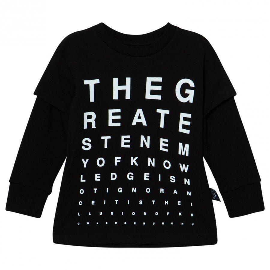 Nununu Vision Test T-Shirt Black Pitkähihainen T-Paita