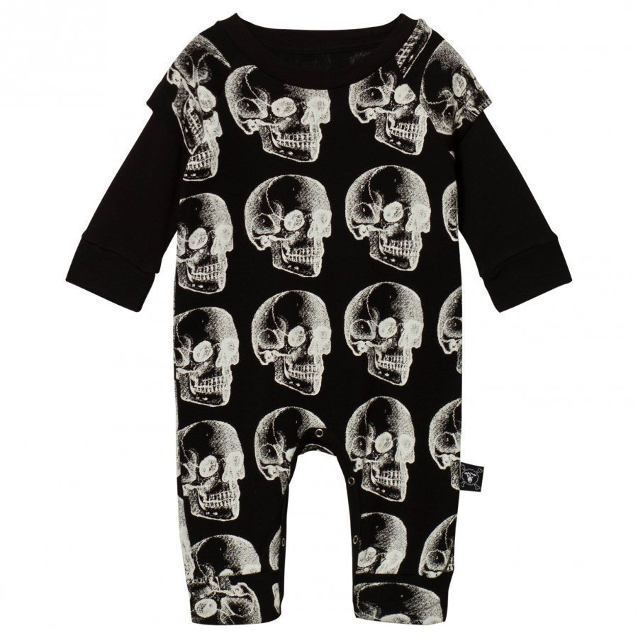 Nununu X-Ray Skull Playsuit Black Potkupuku
