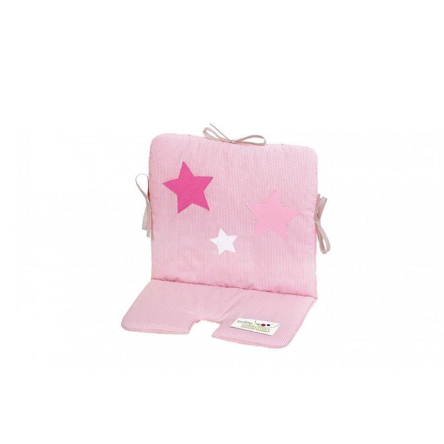 Odenwälder Istuinpäällinen Syöttötuoliin Ja Keinuun Stars Ruudullinen Vaaleanpunainen