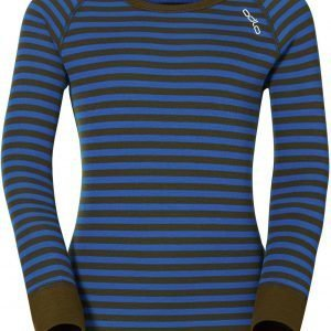 Odlo Kids Warm Shirt Kerrastopaita Sininen / Vihreä