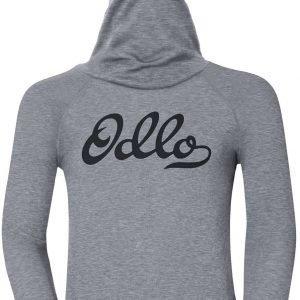 Odlo Kids Warm Shirt Plus Facemask Kerrastopaita Harmaa