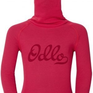 Odlo Kids Warm Shirt Plus Facemask Kerrastopaita Punainen