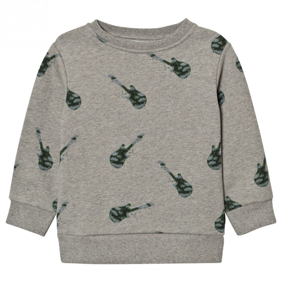 One We Like Basic Gitarr Sweatshirt Grey Melange Oloasun Paita