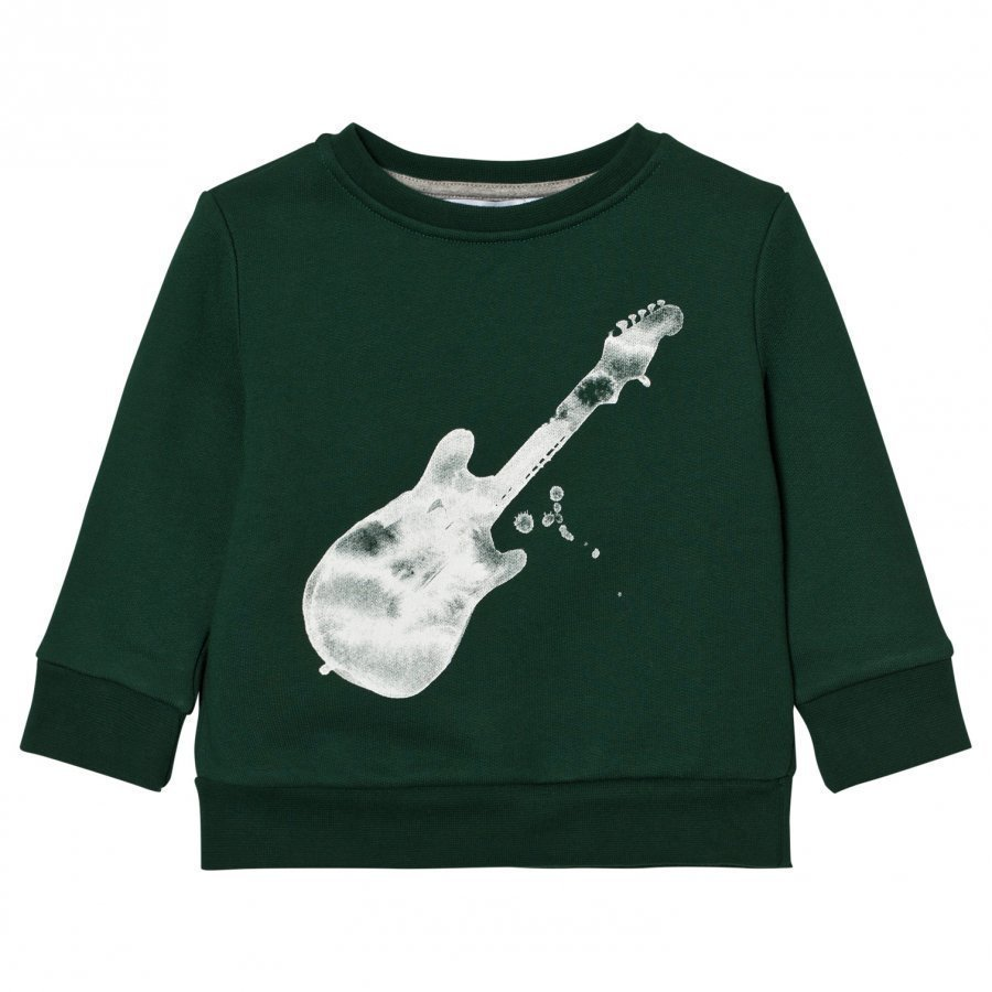One We Like Basic Gitarr Sweatshirt Posy Green Oloasun Paita
