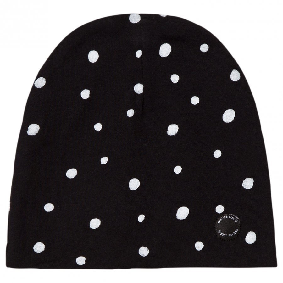 One We Like Dots Hat Black Pipo