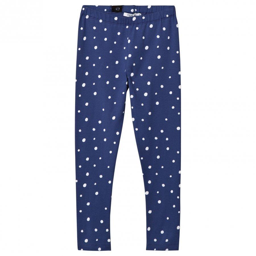 One We Like Dots Leggings Twilight Blue Legginsit