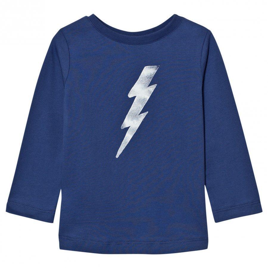 One We Like One Flash Long Sleeve T-Shirt Twilight Blue T-Paita
