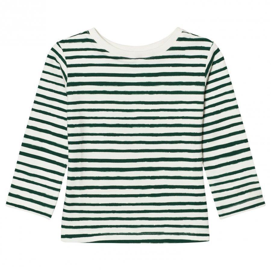 One We Like One Long Sleeve T-Shirt Stripe Pristine White Pitkähihainen T-Paita