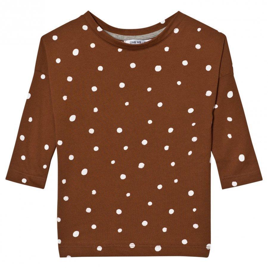 One We Like Pop Long Sleeve T-Shirt Dots Tortoise Shell Pitkähihainen T-Paita