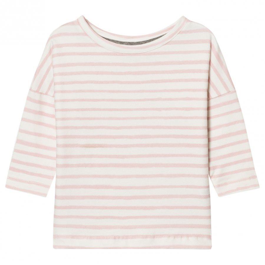 One We Like Pop Long Sleeve T-Shirt Stripe Pristine White Pitkähihainen T-Paita
