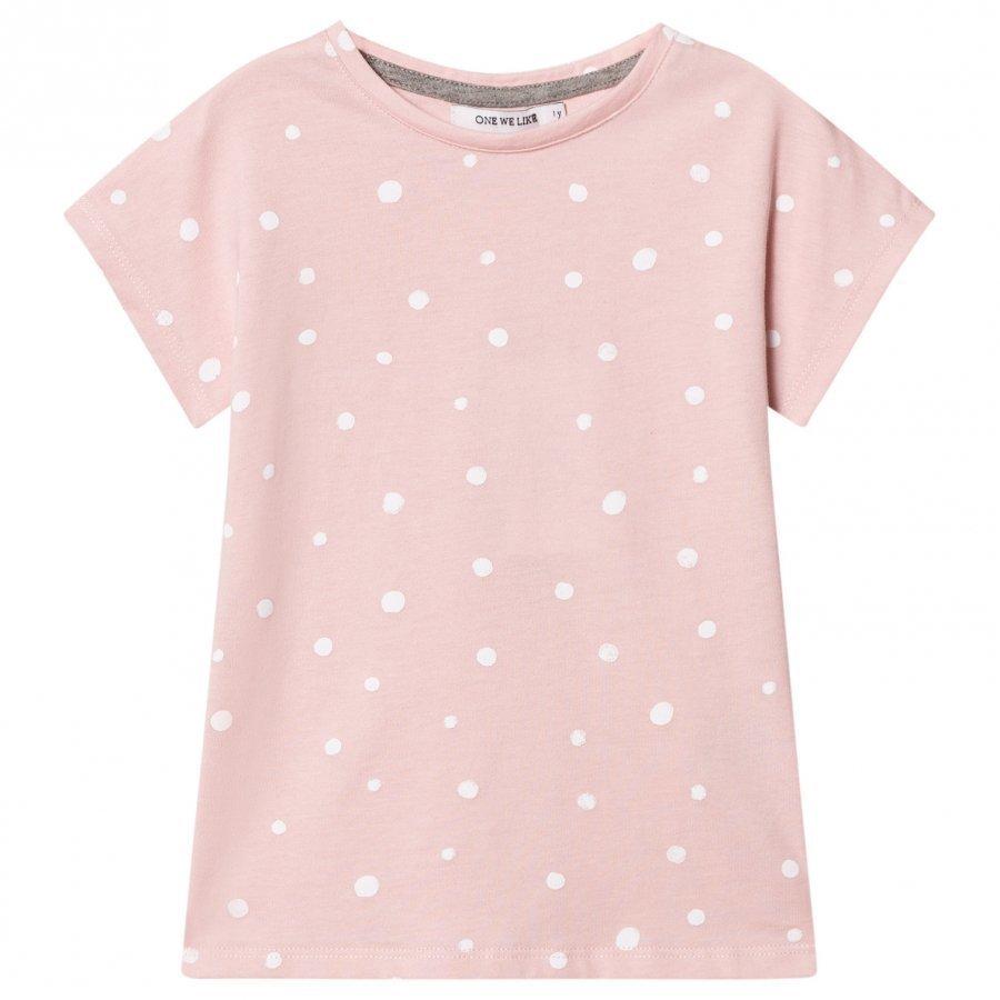 One We Like Pop Short Sleeve T-Shirt Dots Lotus T-Paita