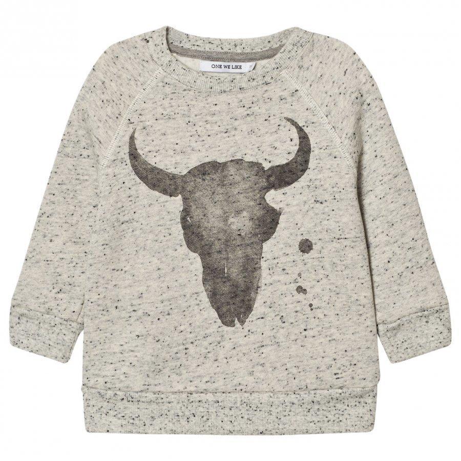 One We Like Rag Kranium Sweatshirt Grey Dots Oloasun Paita