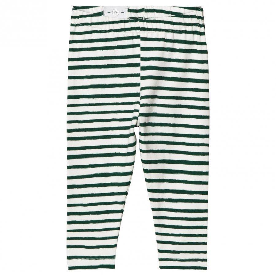 One We Like Stripe Leggings Pristine White Legginsit