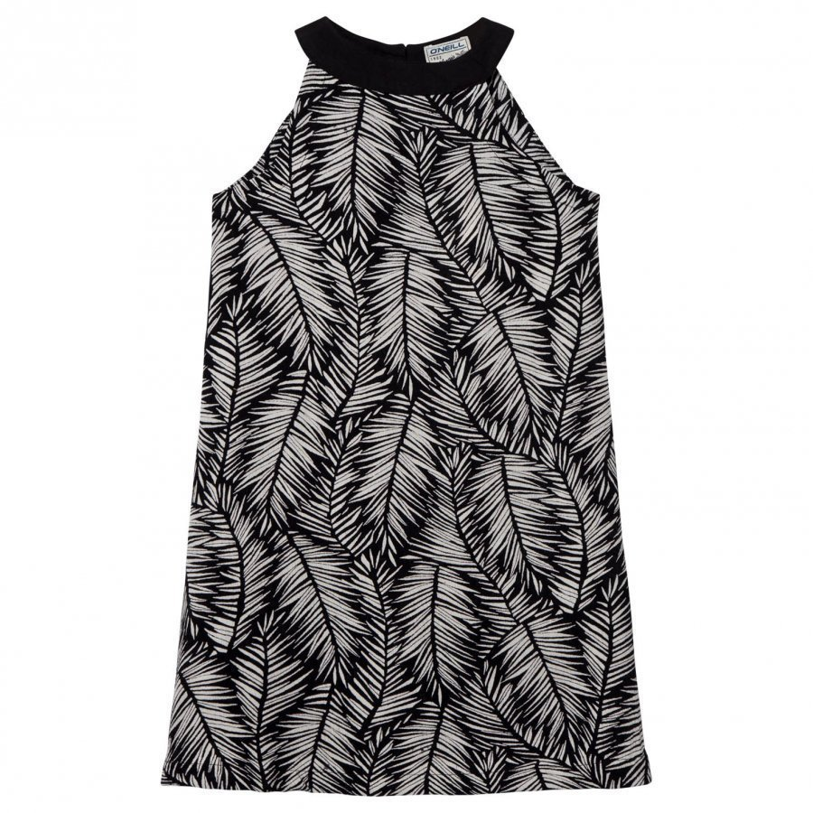 Oneill Black And White Palm Print Dress Uv-Paita