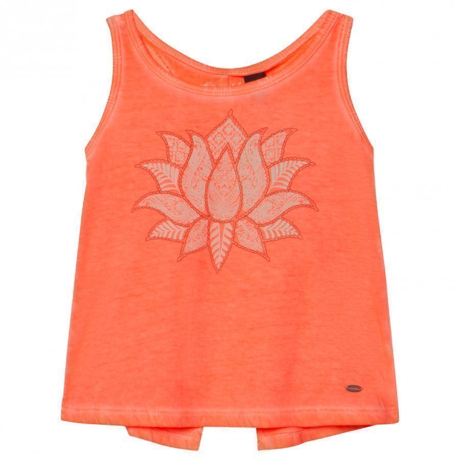 Oneill Fluoroescent Peach Cooler Graphic Tank Top Liivi