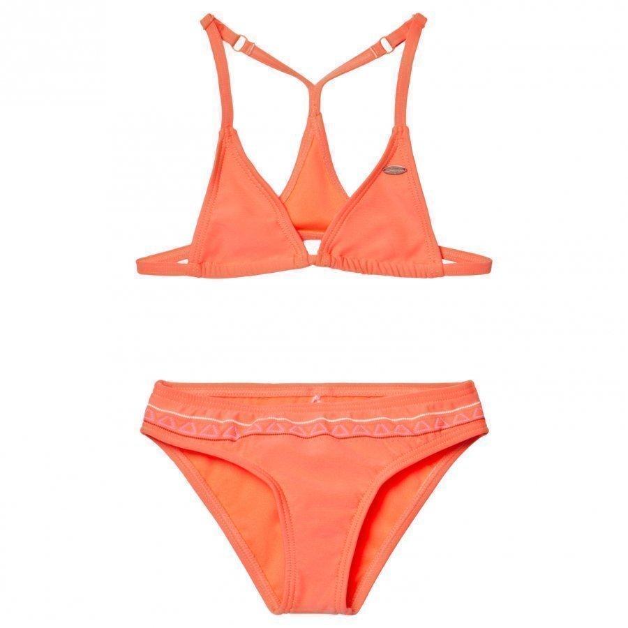 Oneill Fluoroescent Peach Triangle Bead Bikini Bikinit